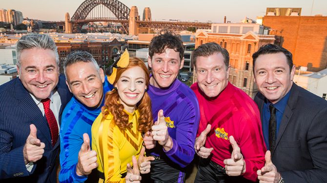 Paul Field, The Wiggles and Robert Patterson - Credit Jacquie Manning