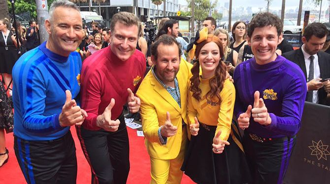The Wiggles with Ben Lee on the Red Carpet, 2016 Aria Awards