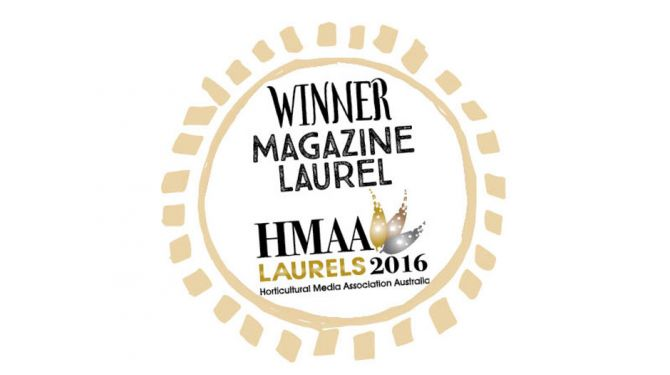 Organic Gardener Wins HMAA Laurel Award
